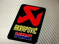 1 Adesivo Sticker AKRAPOVIC HRC Alte Temperature High Temperatures