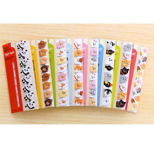 120 Sheets Cute Animals Mini Sticky Notes Page Marker Memo Tab Sticker UK Stock
