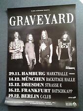 * Graveyard 2011  * Orginal Concert Poster DIN A 1 = 84 x 60 cm