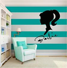 BARBIE GIRL Vinyl Wall Art quote Home Family Decor Decal Word & Phrase