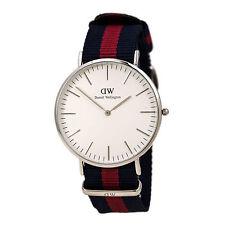 Daniel Wellington 0201DW Men's White Dial Blue & Red Strap Watch