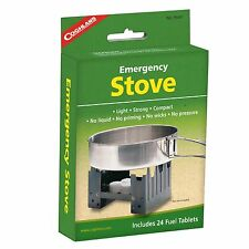 Emergency stove camping backpacking emergency survival includes 24 fuel tabs CO