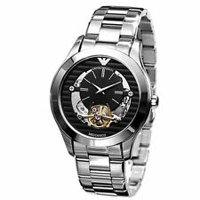 NEW Armani Meccanico Black Skeleton Dial Men's Watch AR4642