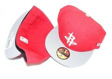 (HB1) NEW ERA HAT CAP FITTED 59FIFTY HOUSTON ROCKETS SIZE 7 1/4 RED GREY WHITE