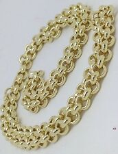 Brand new HEAVY Solid 9ct Gold Belcher Chain- 22inch 46g Uk Hallmark RRP £2070