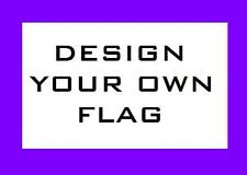 Custom BANK GOTHIC Safety Flag with Saying 4 ATV JEEPUTV Bike Dune Whip Pole
