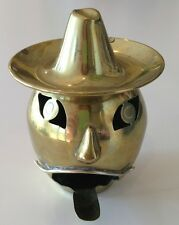 VTG 1920s Brass Bandito Pumpkin Head Ashtray from Mexico R.G.C. Tobacciana