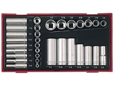 "TENG TOOLS 1/4 & 3/8 DRIVE SOCKET SET IMPERIAL + CASE 3/16""   3/4"" 6 POINT AF"