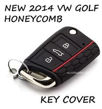 VW Volkswagen Golf MK7 Honeycomb Car 2014 2015 2016 Key Cover Case Black