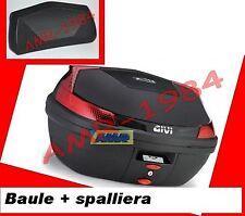 BAULE VALIGIA  GIVI B47NT TECH NERO + SPALLIERA  E131  BAULETTO B47 NT TECH