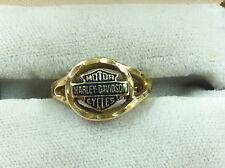 Harley Davidson Gold Ring Yellow 10k Gold Size 7 #974