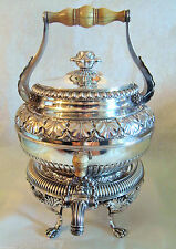 Exquisite 19C English Georgian Sterling Silver Tea Kettle Benjamin Smith