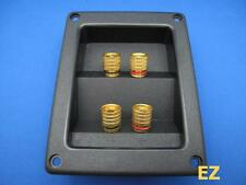 Speaker TERMINAL Plate With 4x Gold Binding Post Banana Plug Connector P148