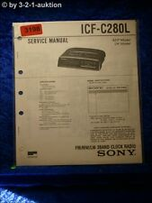 Sony Service Manual ICF C280L 3 Band Clock Radio (#3198)