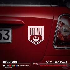 RESISTANCE Star Wars Rebel Alliance Logo Car Laptop Vinyl Sticker Decal