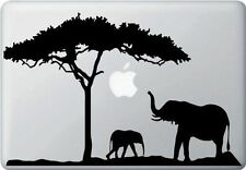 """Elephant Mom & Baby Africa Sticker Decal for Apple Macbook Air & Pro & Retina13"""""""