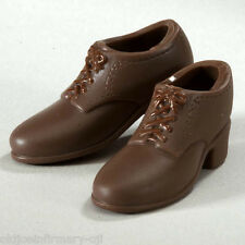 Infirmary Exclusives WWII US Dark Brown Service Shoes Female 1:6 Scale (g48)