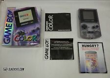 Nintendo GAME BOY COLOR Atomic (Clear) Purple Handheld System COMPLETE IN BOX!