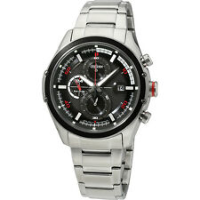 Citizen Eco-Drive Silver Stainless Steel Black Dial Men's Watch CA012051E
