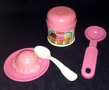 Vintage Fisher Price Pretend Fun Play Food For little tike Kitchen ICE CREAM Set