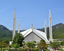Faisal Mosque in Islamabad, Pakistan 8x10 Photo Picture