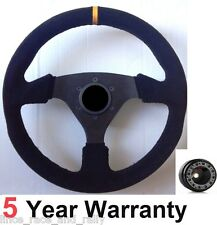 SPORTS SUEDE STEERING WHEEL AND BOSS KIT FIT VAUXHALL CORSA B ASTRA TIGRA OPEL