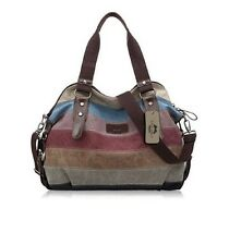 Borsetta da Donna Tela Tote Shopper spalla Zipper Multi Colore Hobo