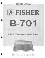 Fisher service manual pour Car Amplifier b-701