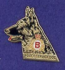 B Division RCMP Canada Mounted Police K9 Dog Unit German Shepherd Head Lapel Pin
