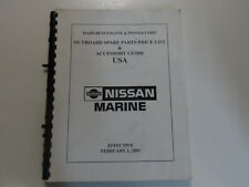 2001 Nissan Marine Outboard Spare Parts Price List Accessory Guide Manual WATER