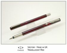 Parker Vector Translucent Red  Fountain