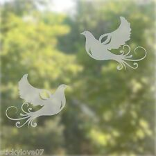 Doves - Windows and doors decal etched glass effect sticker