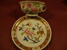 Herend Vintage Cup and Saucer Set Hand Painted in the SHanghai/Chinois Pattern