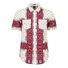 "VOLCOM Men's S/S Button Shirt ""Mya Hya Print"" OXF - Large - NWT - Reg $90"