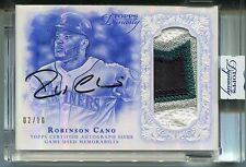 2015 ROBINSON CANO Topps Dynasty SIGNATURE AUTOGRAPH w/4 Color LOGO PATCH #02/10