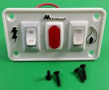 Atwood 91230 RV Water Heater Dual Switch White with Panel