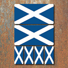 Scottish Scotland Flag Laminated Sticker Set Small Car Motorcycle Mountain Bike