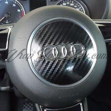 Black Carbon Fiber GLOSS Airbag Steering Wrap S RS A1 A3 A4 A5 A6 A8 TT Q3 Q5 Q7