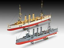 REVELL - 1:350 Models German WWI Light Cruisers SMS Dresden & SMS Emden #05500