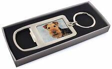 Welsh Terrier Dog 'Love You Mum' Chrome Metal Bottle Opener Keyrin, AD-WT1lymMBO