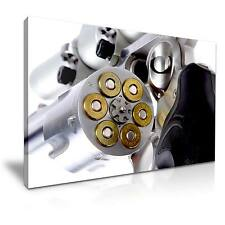 Large Revolver Weapon Gun Canvas Wall Art Picture Print 76x50cm Special Offer 16