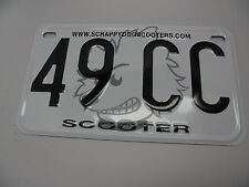 49cc 50cc License Plate Tag Scooter Motorcycle Golf Cart Mini Pocket Bike Moped
