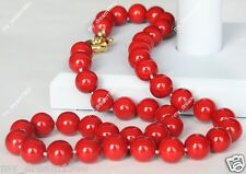 Beautiful Genuine 10mm Red South Sea Shell Pearl Necklace 18""
