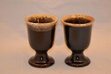 Pfaltzgraff Brown Drip Gourmet Set of 2 Water Goblets