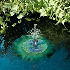 Solar Powered Pond Water Fountain Floating Lily Garden Feature Pump With Filter