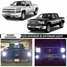 18x White Interior Exterior LED Light Package Kit for 2007-2013 Silverado Sierra