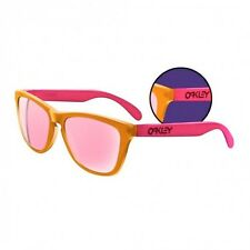 Oakley frogskin Blacklight sunglasses orange/pink with pink iridium lens 24-284