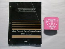 1998 FORD MERCURY VILLAGER POWERTRAIN CONTROL/EMISSIONS DIAGNOSIS SERVICE MANUAL