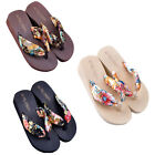 Fashion Women Shoes Bohemia Floral Breathable Beach Sandals Slippers Flip Flops