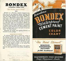 Vintage 1942 Brochure Bondex  Waterproof Cement Paint Color Chart Reardon Co
